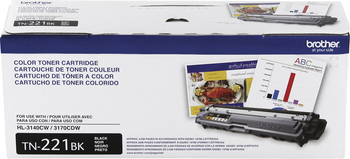 Brother Toner Cartridge - Black - Laser - 2500 Page - 1 Each TN221BK