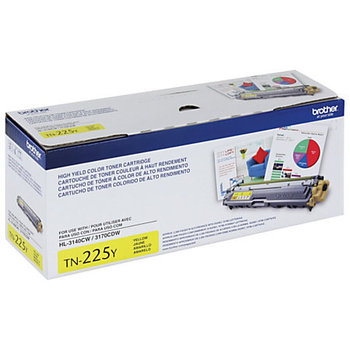 Brother Toner Cartridge - Yellow - Laser - 2200 Page - 1 Each TN225Y